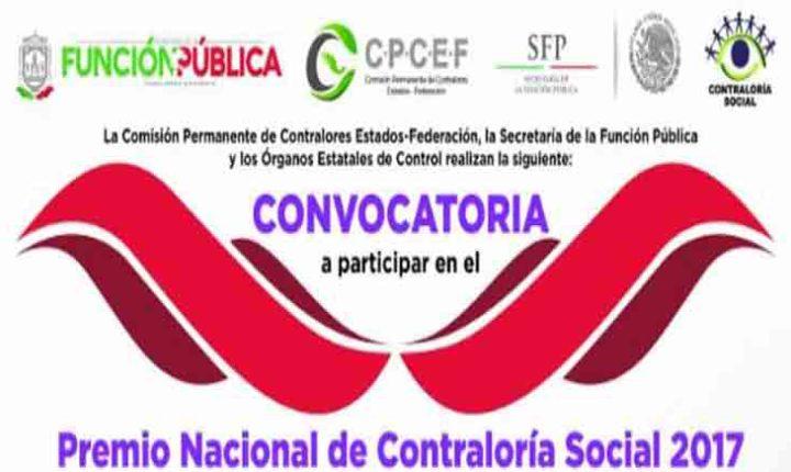 CONVOCA SFP A COMITÉS CIUDADANOS A PARTICIPAR EN EL  PREMIO NACIONAL DE CONTRALORÍA SOCIAL 2017
