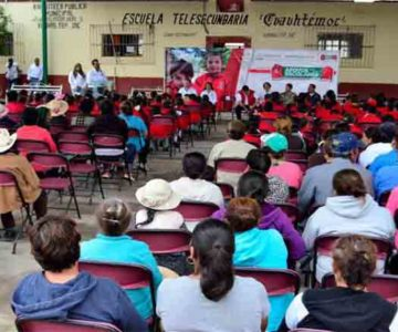 GOBIERNO DEL ESTADO ENTREGA APOYOS ESCOLARES Y ALIMENTARIOS EN TEPETONGO