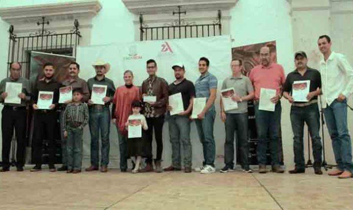 GODEZAC PREMIA A ARTESANOS GANADORES DEL CONCURSO ESTATAL DE TALABARTERÍA 2017